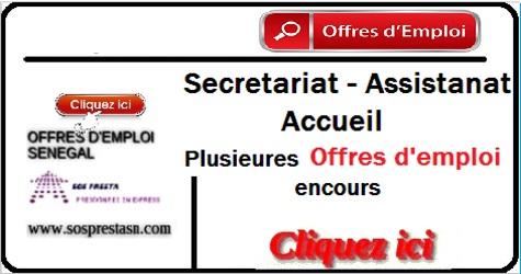 offres d emploi secretariat assistanat accueil au 21 11 2017