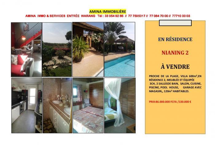 Villa A Vendre En Residence Nianing 2