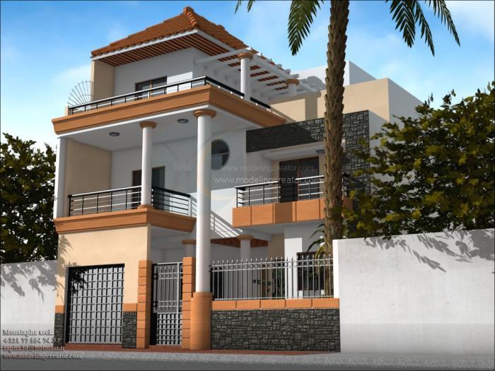 Constructions au s n gal for Plan maison 150m2 senegal
