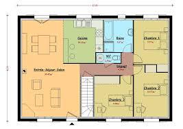 plan feng shui maison autre exemple de plans image maison de 110 m2 avec 3 chambres image. Black Bedroom Furniture Sets. Home Design Ideas