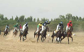 Course à cheval au Snéégal
