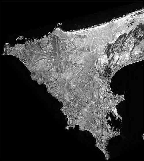 Photo satellite de Dakar