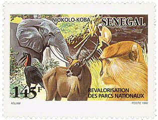 Timbre sénégalais sur le Niokolo Koba