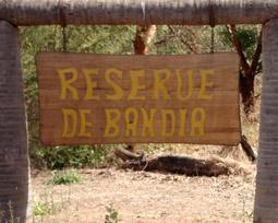 entrée de la réserve de Bandia